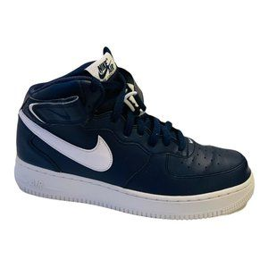 Nike Air Force 1 Mid '07 Navy Blue White Sneakers